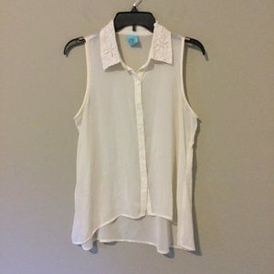 h.i.p. Happening in the Present Sz M Sheer Blouse